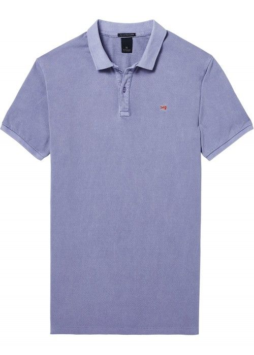 Scotch & Soda Classic garment-dyed pique pol
