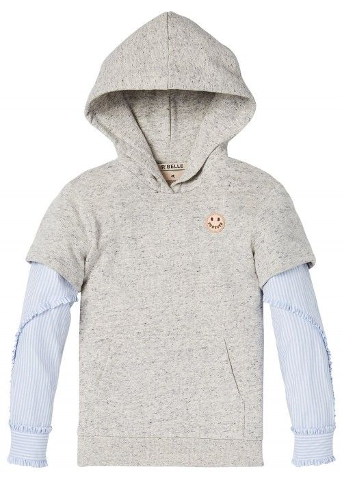 Scotch R'belle Hoody With Woven Sleeves