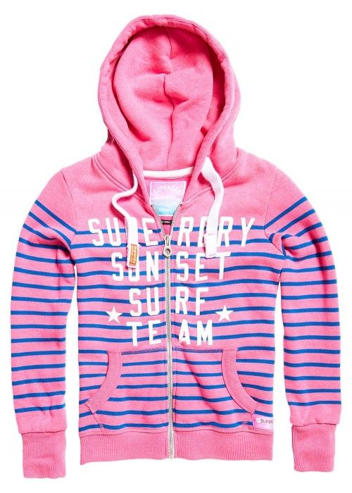 Superdry Miami surf stripe entry hood