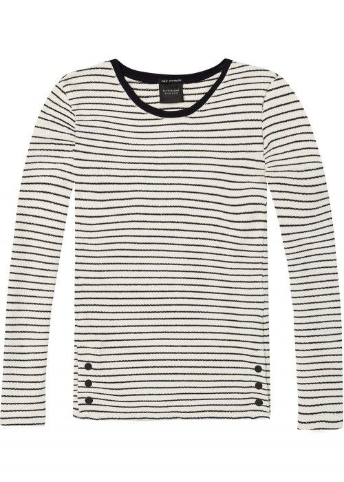Maison Scotch Basic crew neck sweat with sid