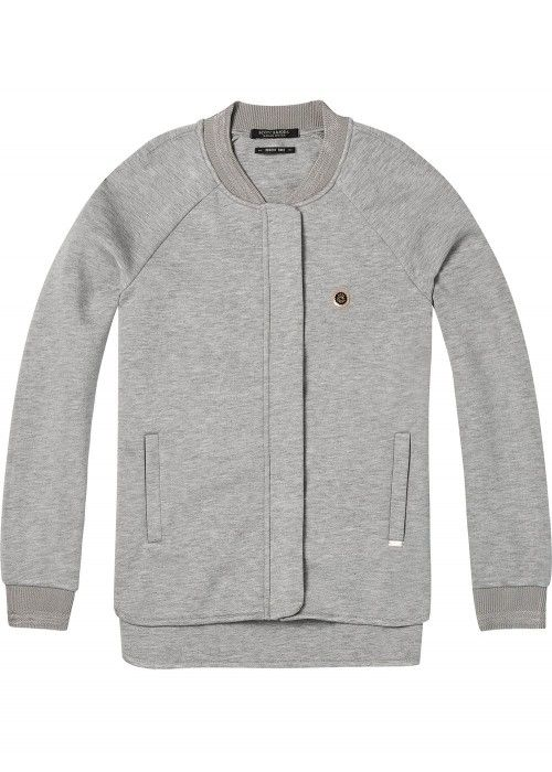 Maison Scotch Neoprene sweat bomber jacket