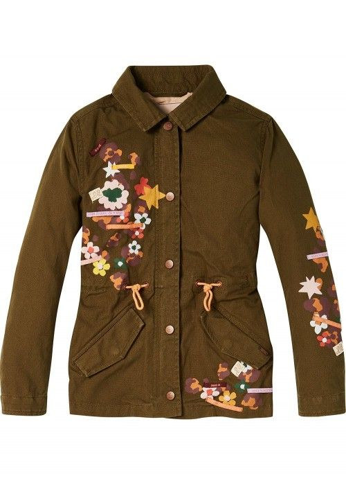 Scotch R'belle Worker Jacket Placed Artwork