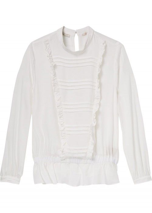 Maison Scotch High neck top with ruffle