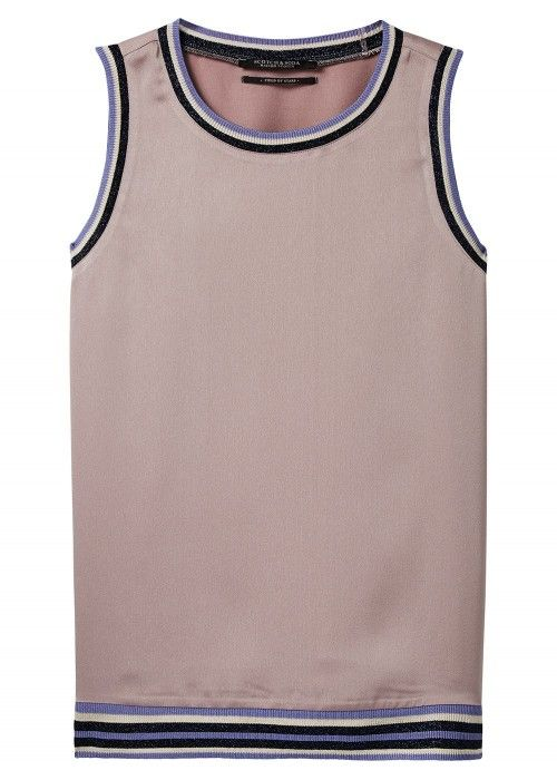 Maison Scotch Crew neck sleeveless top with