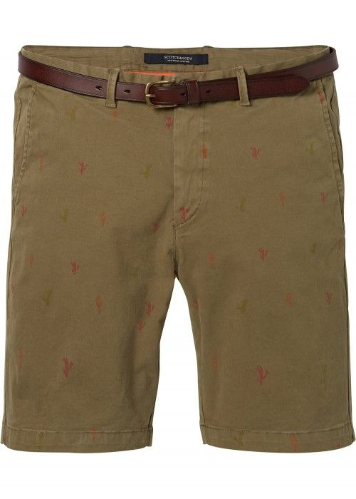 Scotch & Soda Garment dyed chino short with