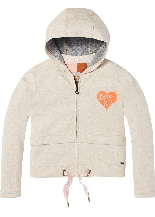 Scotch R'belle Soft Zip-Through Hoody With Ar