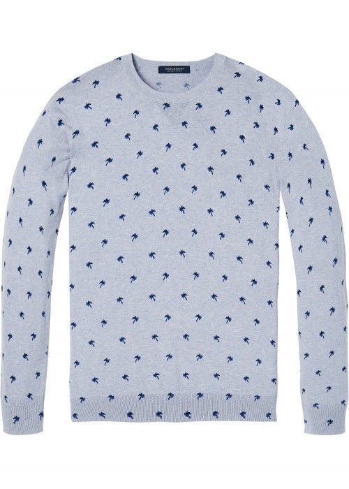 Scotch & Soda Classic cotton melange crewnec
