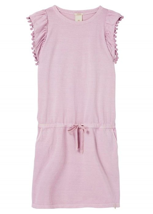 Scotch R'belle Jersey Dress With Woven Ruffle