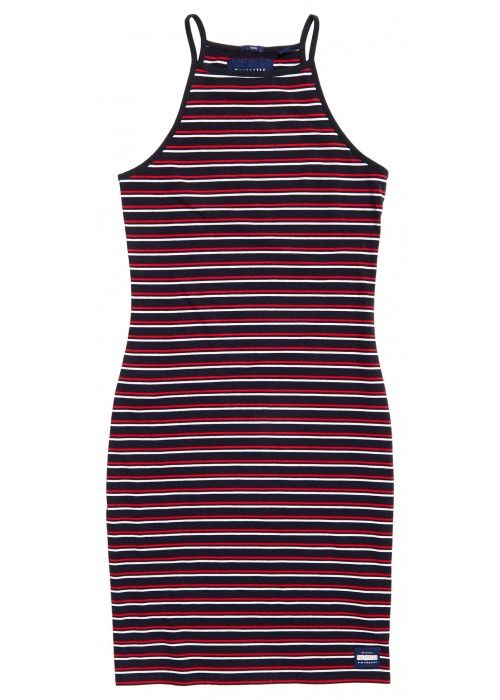 Superdry Strappy stripe midi dress
