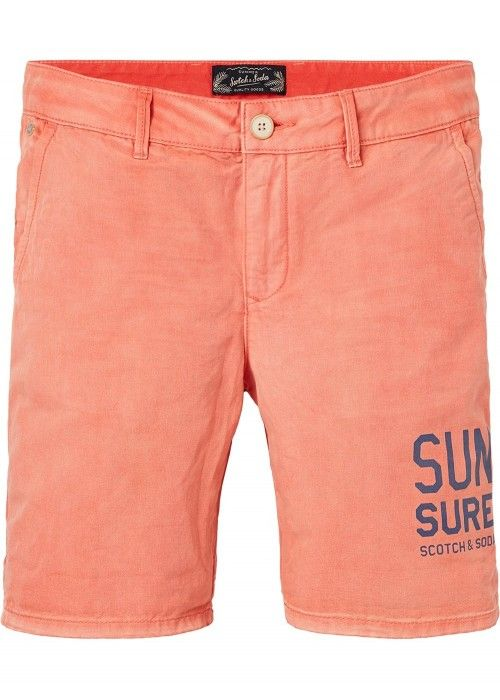 Scotch & Soda Canvas chino short with