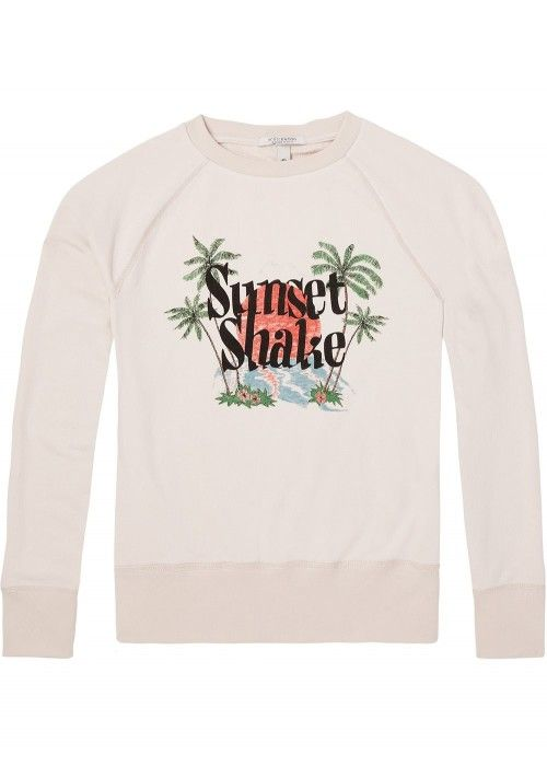 Maison Scotch Oversized crew neck sweat with