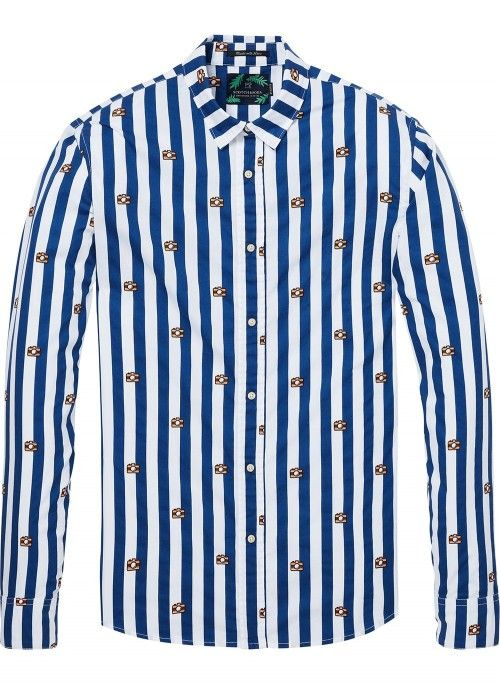 Scotch & Soda Shirt with allover printed str