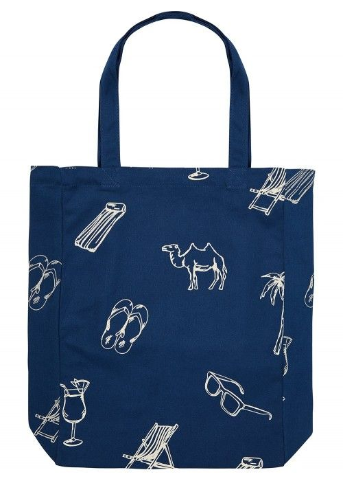 Scotch & Soda Canvas shopper with printed ar