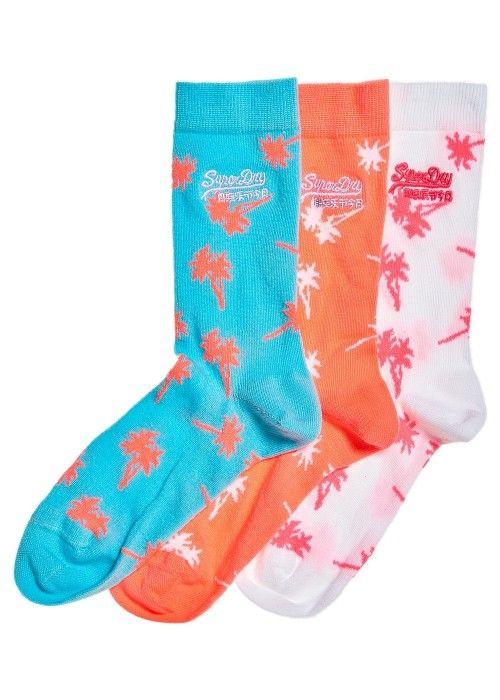 Superdry Palms sock triple pack