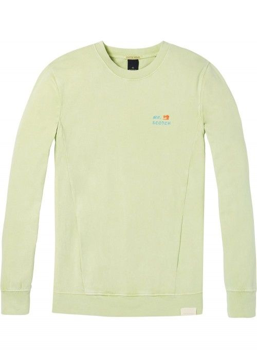 Scotch & Soda Garment dyed crewneck sweat