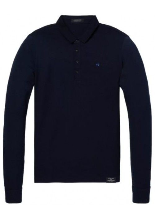 Scotch & Soda Longsleeve pique polo