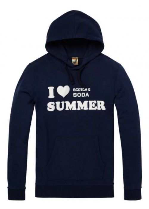 Scotch & Soda Hoody with chest text artwork