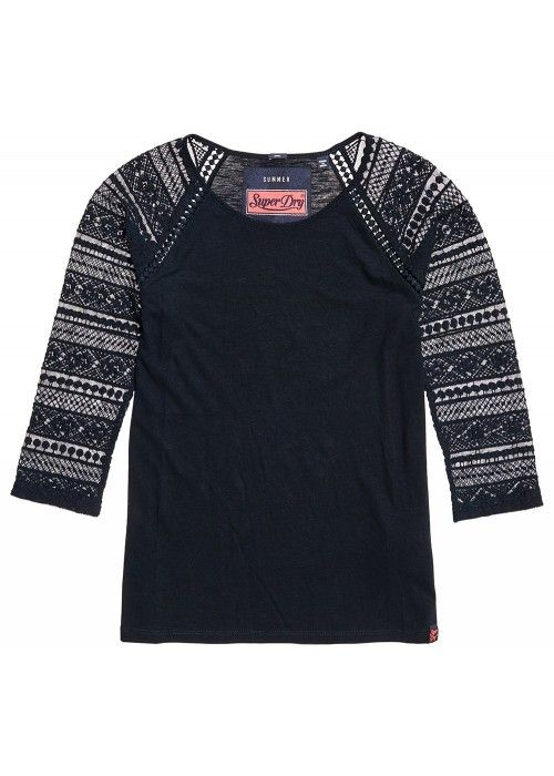 Superdry Embroidered l/s raglan top