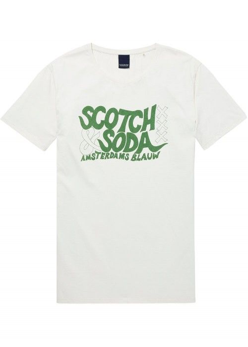 Scotch & Soda Ams Blauw S&S simple graphic