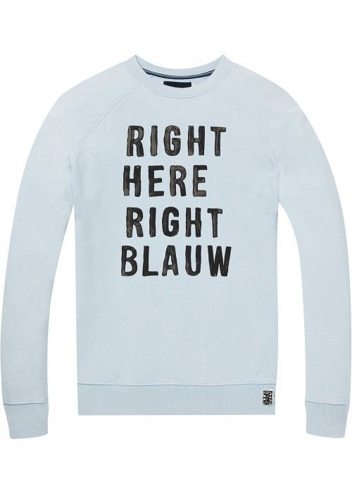 Scotch & Soda Ams Blauw vintage washed sweat