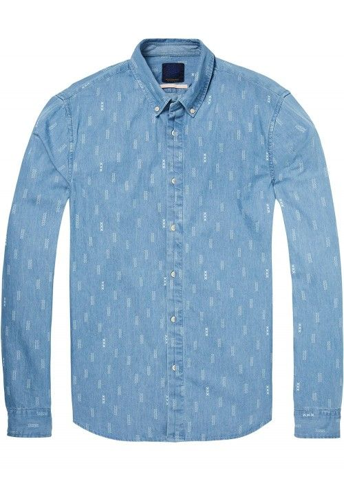 Scotch & Soda Ams Blauw regular fit allover