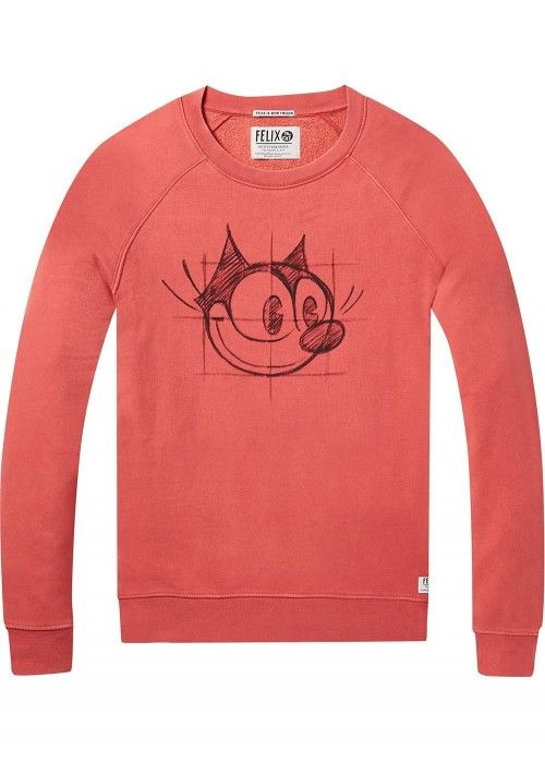 Scotch & Soda Ams Blauw Felix the cat sweat