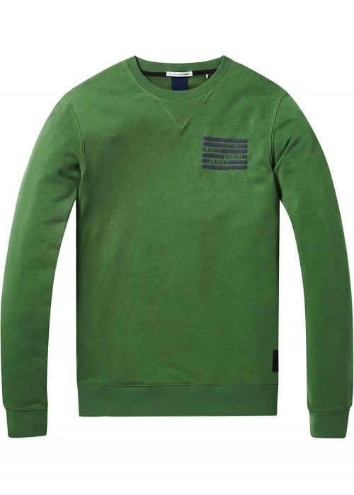 Scotch & Soda Ams Blauw classic sweat