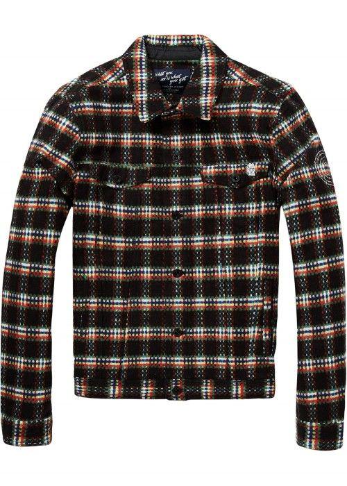 Scotch & Soda Brushed cotton trucker jacket