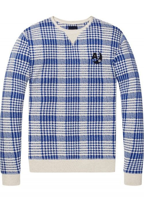 Scotch & Soda Ams Blauw regular fit concept