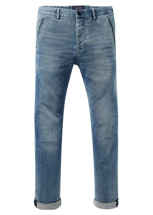 Scotch & Soda Ams Blauw Stuart jogger chino