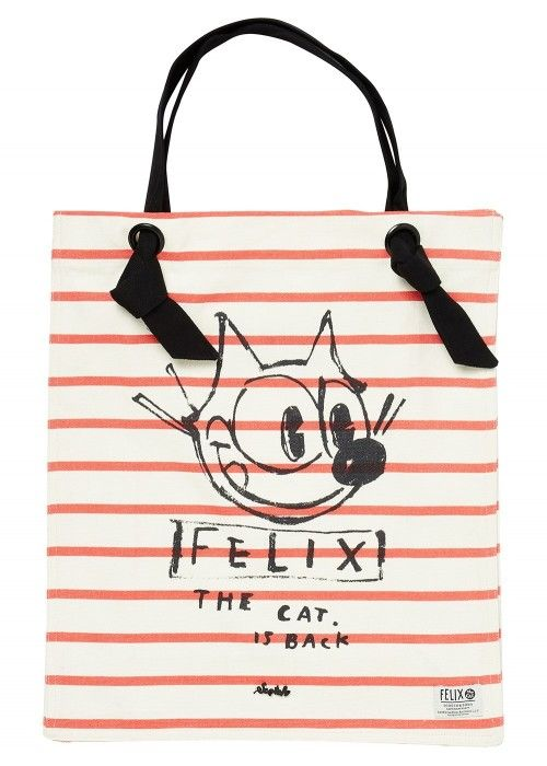 Maison Scotch Ams Blauw Felix the cat canvas