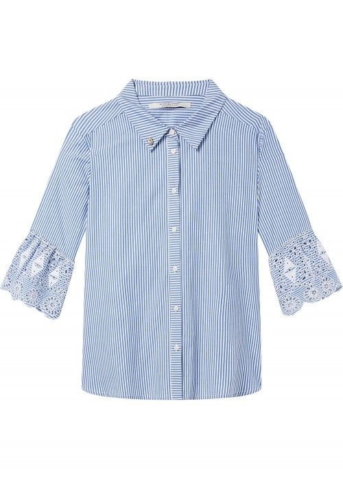 Maison Scotch Shit with embroidered sleeve