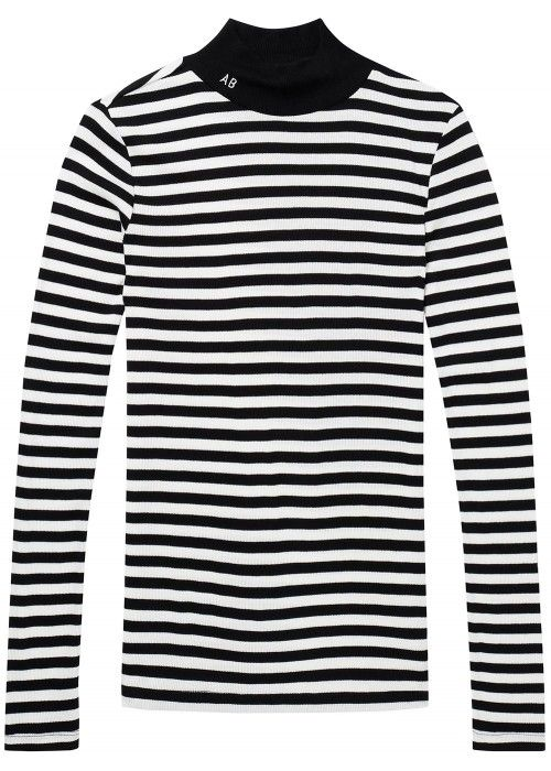 Maison Scotch Basic rib top with turtle neck