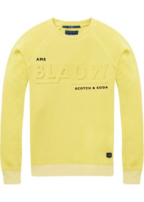 Scotch Shrunk Crew neck sweat in cotton poly