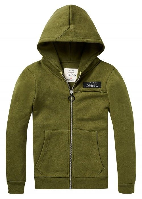 Scotch Shrunk Hooded zip through sweat