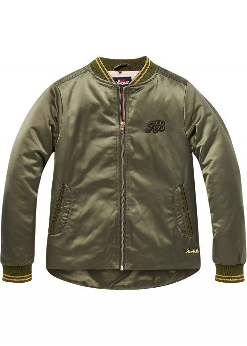 Scotch R'belle Bomber jacket with uneven bott