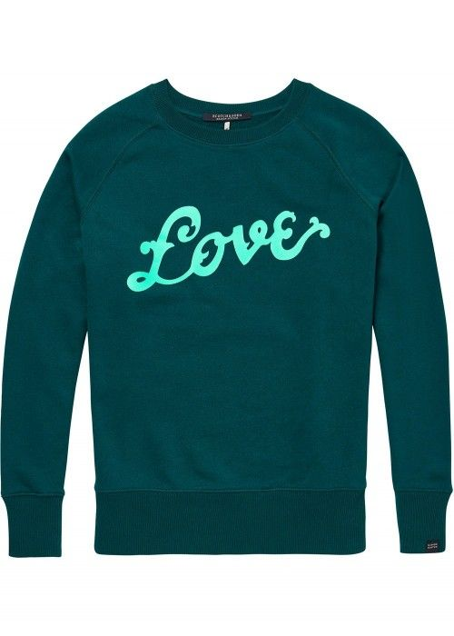 Maison Scotch Crew neck sweat with artworks