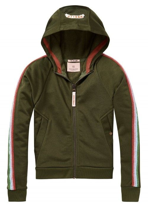 Scotch R'belle Zip through hoody with lurex