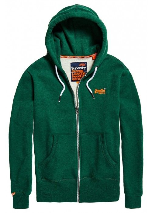 Superdry Orange label ziphood