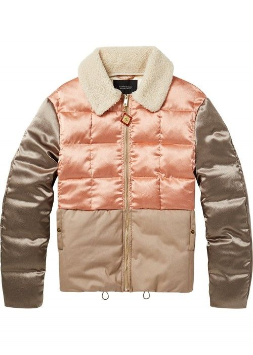 Maison Scotch Chic bomber jacket in satin