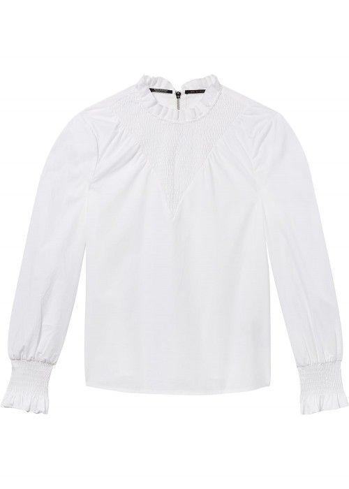 Maison Scotch Clean cotton top with smocking