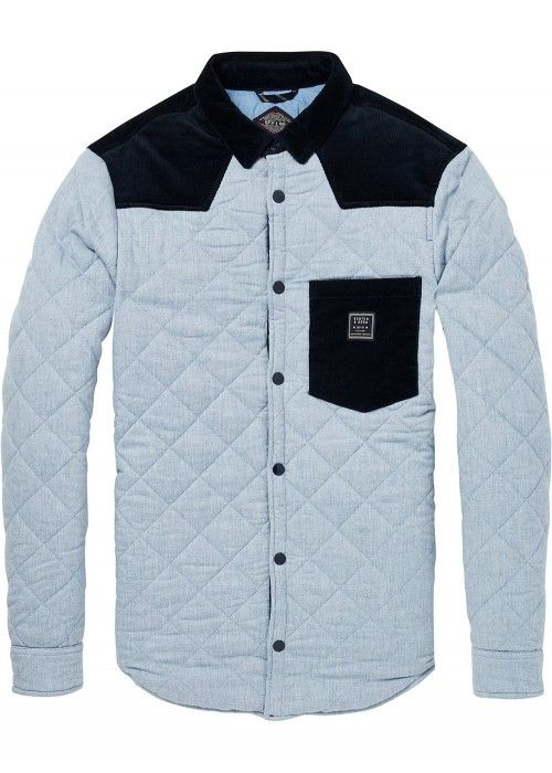 Scotch & Soda Mix & Match quilted shirt jack