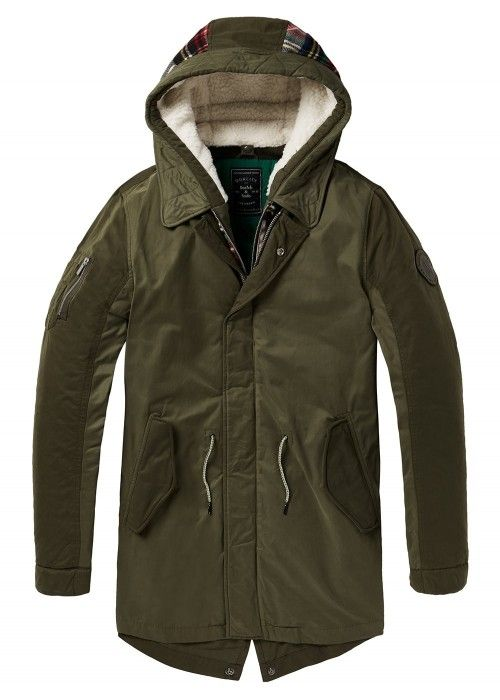 Scotch & Soda Seasonal parka with detachble