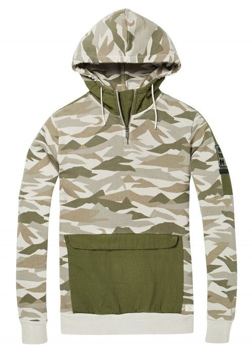 Scotch & Soda Garment dyed Explorer hoodie