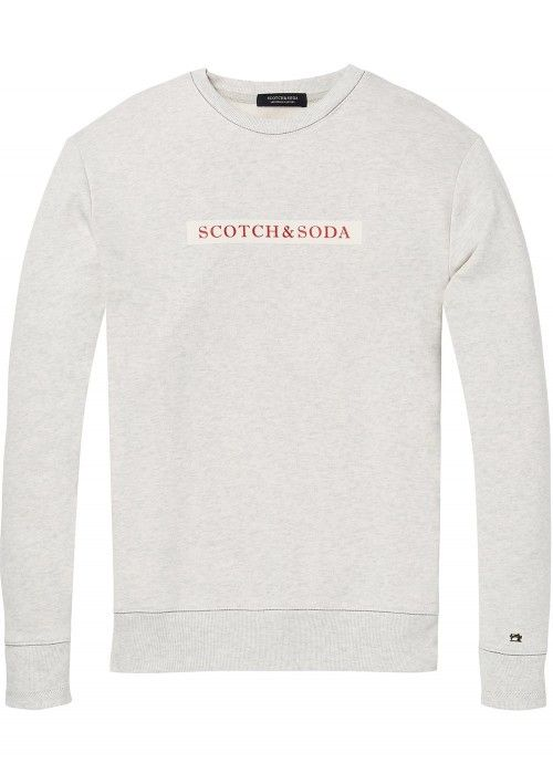 Scotch & Soda Clean crewneck sweat with easy