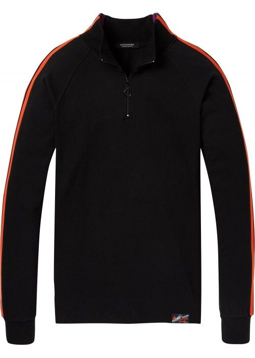 Scotch & Soda Half zip jersey track top with
