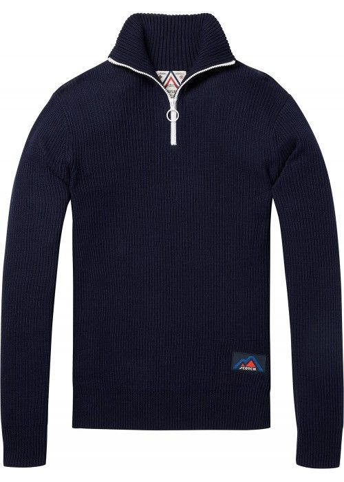 Scotch & Soda Retro-ski inspired half zip