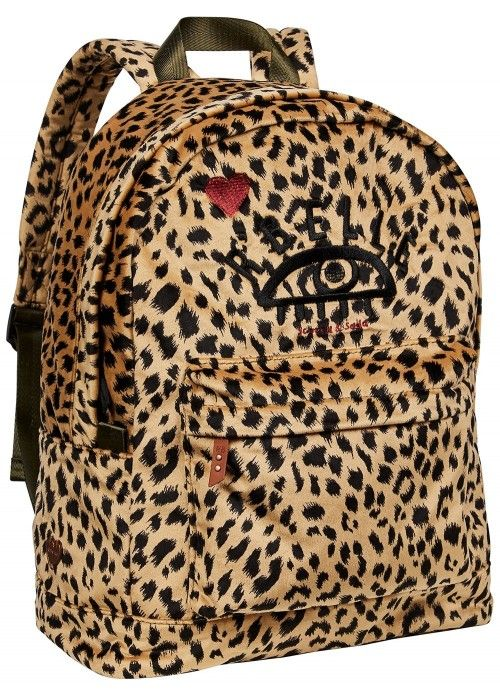 Scotch R'belle Velvet backpack in leopard