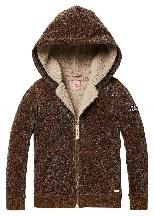 Scotch R'belle Zip through hoody in lurex