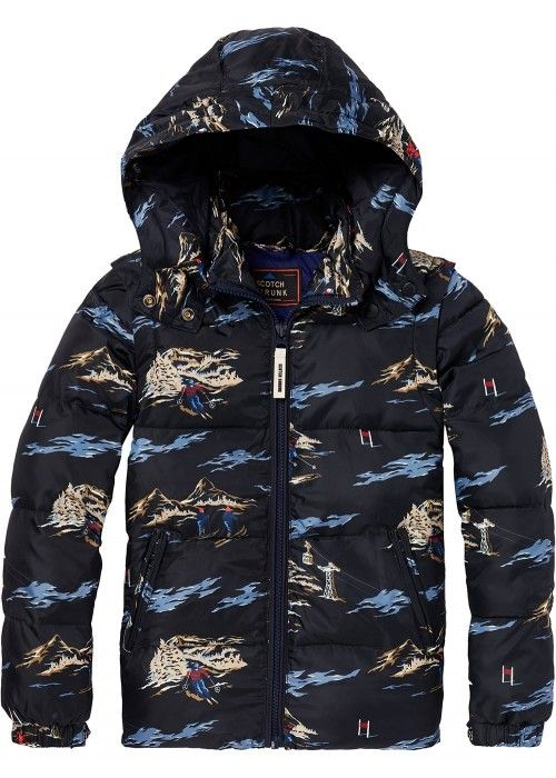 Scotch Shrunk Allover printed nylon jacket